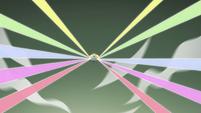 S4E33 Star releasing an array of rainbow lights