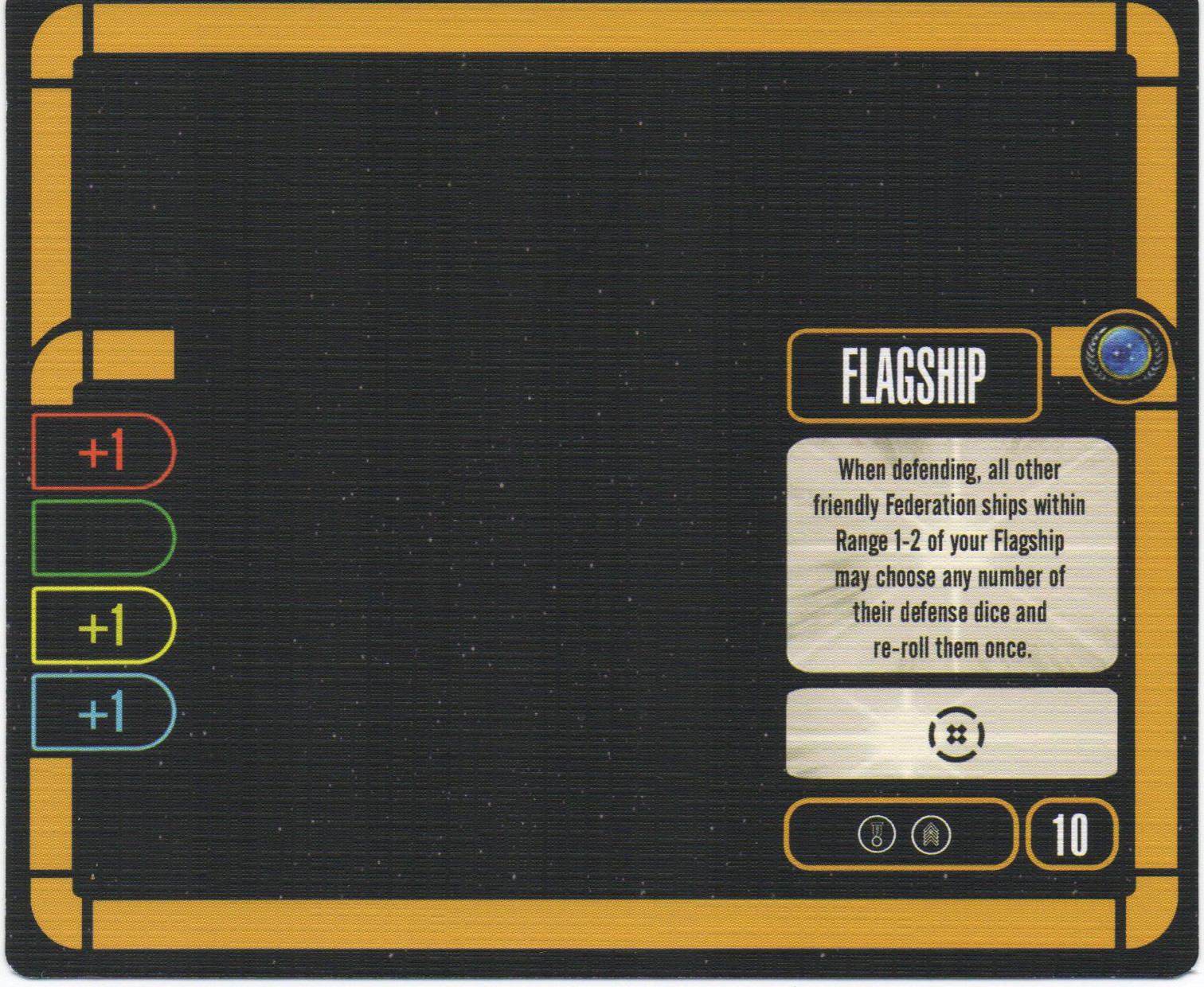 Details about  /Star Trek Attack Wing OP Skilled Helmsman Token Piece /& Reference card