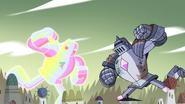 S4E33 Mecha Rainbow Star vs. the Solarian Warrior
