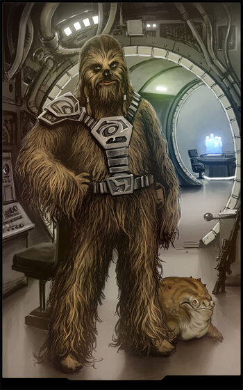 Lowbacca, Aboard the Millennium Falcon - By Jedi-Art-Trick