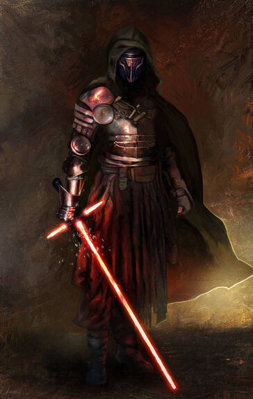 Darth Revan, Wielding his Crossguard - By: Christian Lonsdale