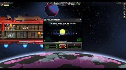 Starbound - Opening the map and using coordinates