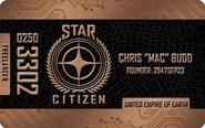 Bronze Freelancer Citizens Card - Mockup