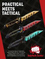 Sawtooth Combat Knifes poster