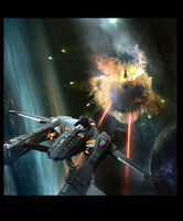 Vanguard taking down Vanduul