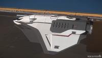 Ares Starfighter Inferno - exterior greybox progress ISC 86 (1)
