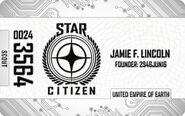 White Citizens Card - Mockup