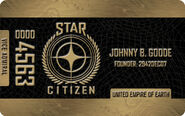 Gold Citizens Card - Mockup
