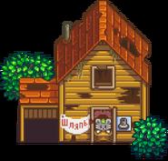 Разрушенный дом весна