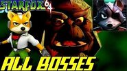Star Fox 64 - All Bosses (No Damage)