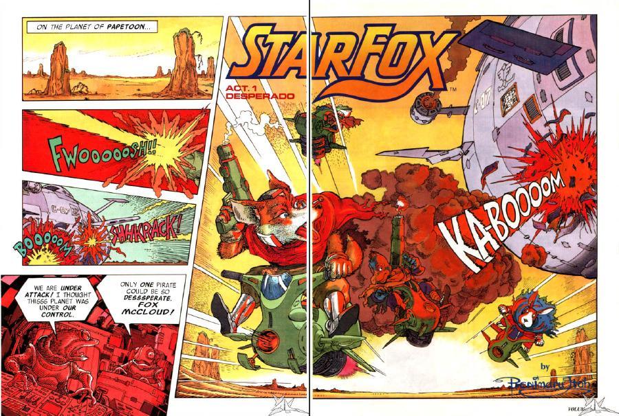 Star Fox (Nintendo Power comic)/Gallery