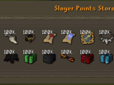 Slayer Points Store