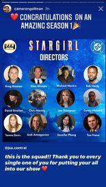 Stargirl S1 Directors BTS