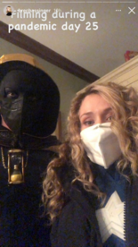 Cameron and Brec Stargirl S2 BTS during Covid19 pandemic 01