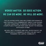 Discrimination statement from CW