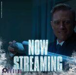 Now streaming logo frozen DC Universe poster