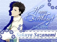 Birthday Card Sazanami