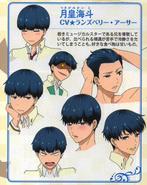 Character Design in PASH! Magazine Aug '15 - Tsukigami
