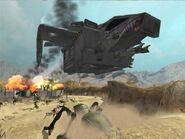 Un DR-8 volando sobre un horda arácnida en Hesperus