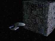 Enterprise-D and Cube