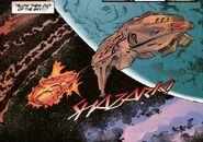 Kazon ship attacks trabe ship