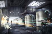 Federation-Dominion skirmish at Ketracel-white facility