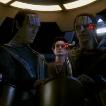 Damar, Dukat and Weyoun, Call to Arms.jpg