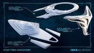 Federation ships concept art Voyager