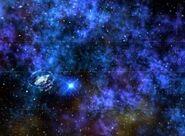 Avenger in cerulean nebula