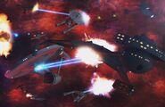 Klingon-Federation space battle