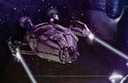 Hirogen warship Demons of Air and Darkness