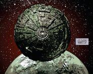 The Borg Sphere above Romulus - Star Trek - Boldly Go 004