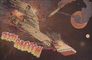 USS Maverick exploding