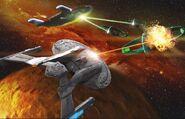 Federation-Romulan Space Battle 2