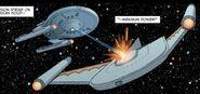 Drake fires on Romulans