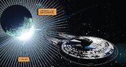 The Endeavour leaving Romulus minus one crew member - Star Trek - Boldly Go 004