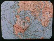 20th century Northern Hemisphere Earth map