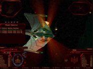 Romulan Bird of Prey attacked by Klingons