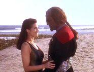Jadzia and Worf on Risa