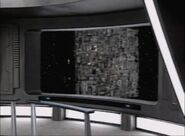 Borg Cube on Righteous Screen - st borg