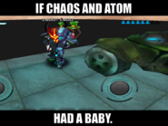 SpartanPro1 - If Chaos and Atom had a baby (Meme)
