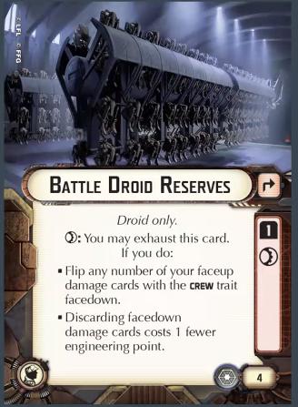 Battle Droid Reserves