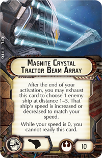 Magnite Crystal Tractor Beam Array