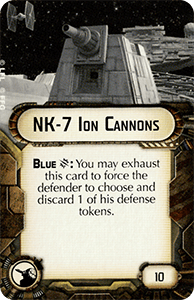 NK-7 Ion Cannons