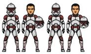 Clone Troopers Bel and Niner by PrincessJ420