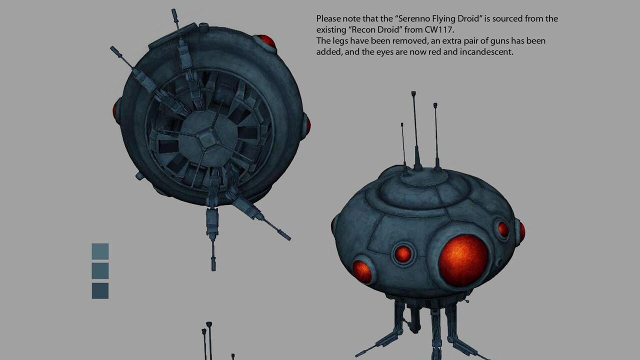 Serenno flying droid