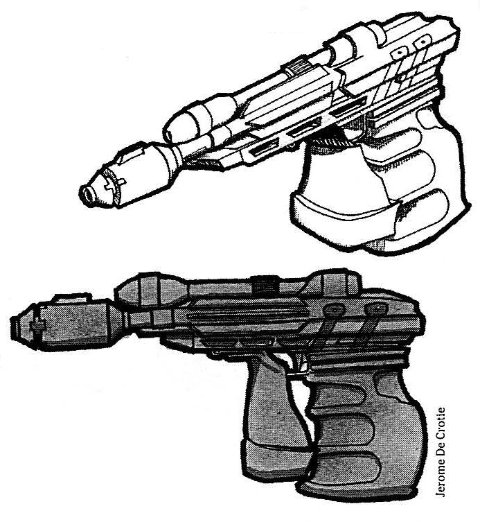 Sentinel IV heavy blaster pistol