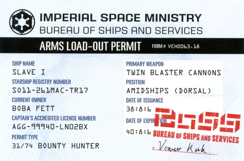 Arms Load-Out Permit
