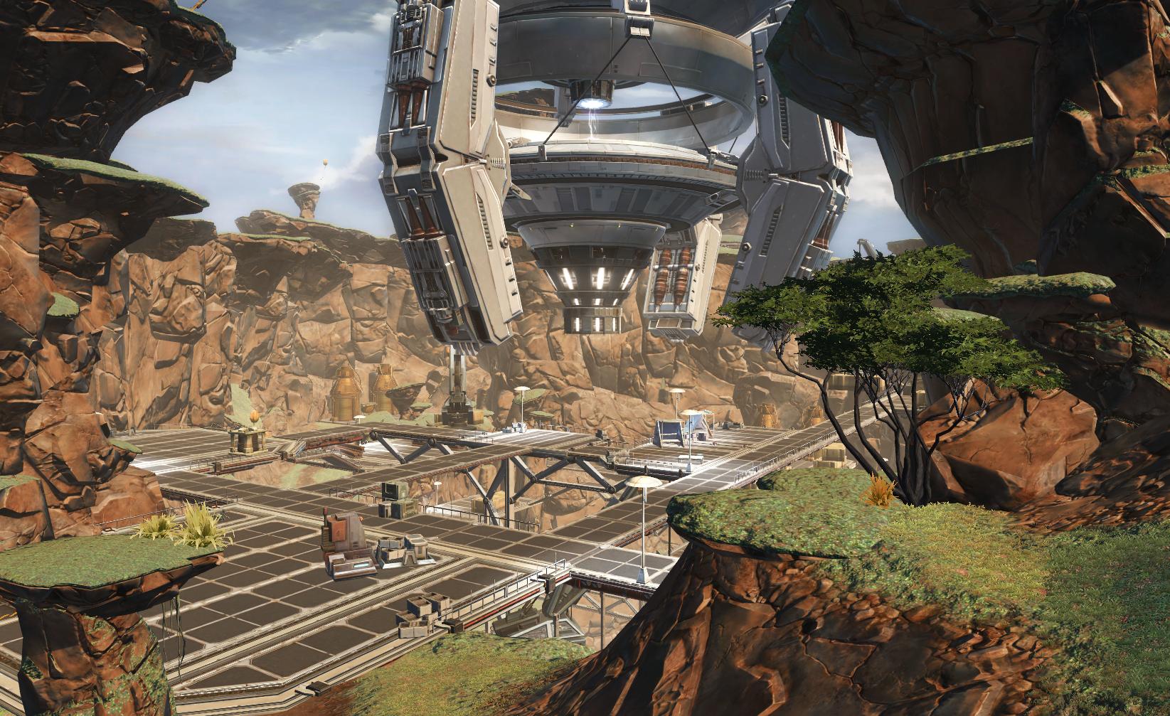 Abandoned mining mesa
