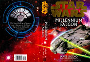 Star Wars Millennium Falcon Luceno hardcover book jacket